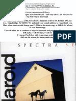 Polaroid Spectra Se Manual