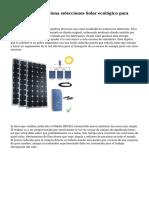 PowerFilm proporciona selecciones Solar ecol?gico para acampar y RVing