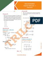 UNI 2016-I Matemática Solucionario