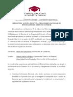 Acta de Constitucion Comisión Electoral CONEDE