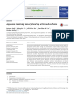 Aqueous mercury adsorption by activated carbon