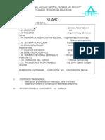 Silabo Control Automatico II 2015 I