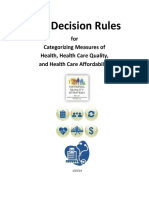 HHS Decision Rules for Categorizing Measures of Health, Quality, Affordability