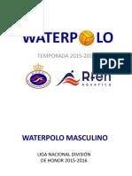 Dossier Waterpolo Masculino Dh 2015-16