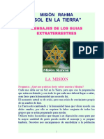 """1 LA MISIÓN   RAHMA """"SOL  EN  LA  TIERRA"""""""