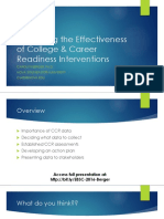 Measuring the Effectiveness of College & Career Readiness