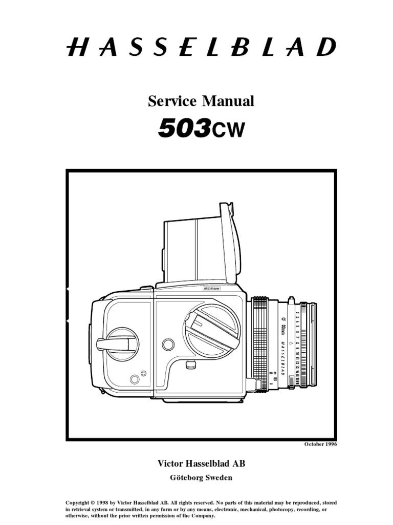 Hasselblad 500-503 manual repair | Camera | Gear