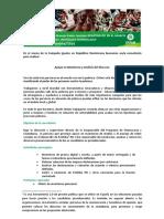 TDR Apoyo en Monitoreo y Análisis del Discurso