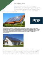 C?mo obtener paneles solares gratis