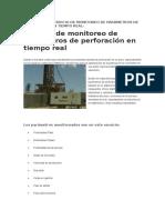 Ventajas Del Servicio de Monitoreo de Parámetros de Perforación en Tiempo Real