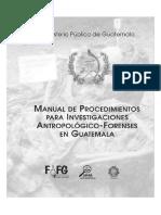 Manual de 11Procedimientos Para Inv. Antropologicas Forenses