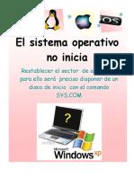 Act 4 carteles de fallas (el sistema operativo no inicia)