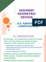 Highway Geometric Design Earthworks 2014 2015