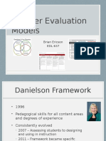 edl 637 teacher evaluation models