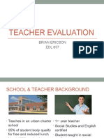 edl 637 teacher evaluation project
