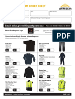 inwork gear uniform order sheet - feb 2016