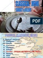 Sorbet Course in French Classical Menu