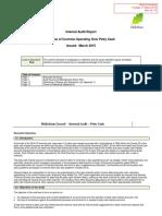10 Y Petty Cash Final Audit Report