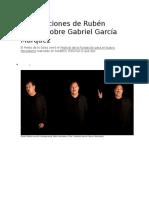Diez Lecciones de Rubén Blades Sobre Gabriel García Márquez
