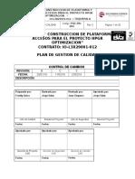 Pgc-pa-001 Plan de Gestion de Calidad Construccion de Pataformas y Accesos Hpgr.... (2)