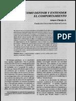 Cómo Definir y Entender El Comportamiento - Arturo Clavijo