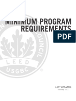 2009 MPR Minimum Program Requirements