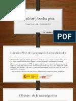 Análisis Prueba Pisa
