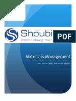 Level II - Materials Management @ Shoubii