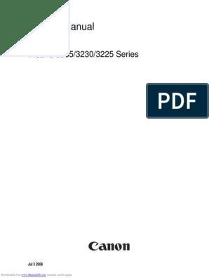 Canon IR3245_iR3225_iR3230_iR3235 Series Service Manual   Signal