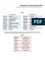 wsc standard two-day schedule
