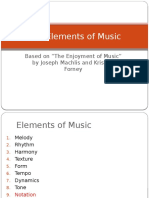 Chapter 1 the Elements of Music
