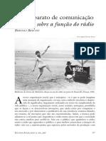 O rádio como aparato de comunicação Discurso sobre a função do rádio