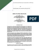 Mine Water Drainage