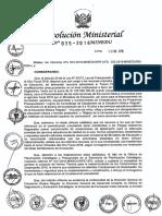 RM N° 035-2016-MINEDU Compromisos de Desempeño 2016