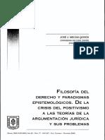 FILOSOFÍA DEL DERECHO Y PARADIGMAS EPISTEMOLÓGICOS. DE LA CRISIS DEL POSITIVISMO A LAS TEORÍAS DE LA ARGUMENTACIÓN JURÍDICA Y SUS PROBLEMAS