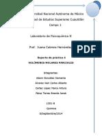 Reporte Volumenes Molares Parciales