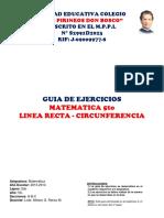 Guia de Ejercicios de Linea Recta y Circunferencia