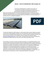 Costo de paneles solares - ser? la instalaci?n vale la pena su Investmenth