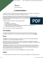 Preparing a Legal Memorandum – Best Guide to Canadian Legal Research