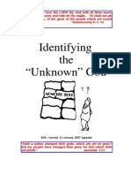 identifying the unknown god sda