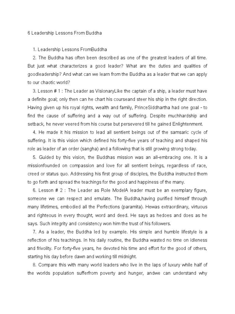 6 leadership lessons from buddha gautama buddha leadership nvjuhfo Images