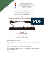Programul Colocviului Tensiuni Ale Dreptatii (Cu Sali Precizate)