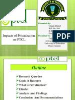 Privatization Impacts on PTCL