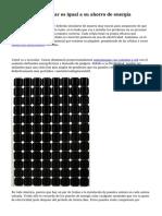 Coste del Panel solar es igual a su ahorro de energ