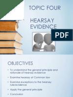 BLW 2101 Hearsay Evidence Notes