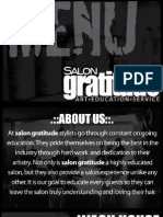 Salon Gratitude Menu (Updated April 16, 2010)