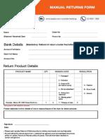 Manual Return Form lazada