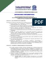 Disposiciones_complementarias_2010 Envio a Todo Conareme