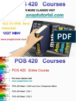 POS 420 Proactive Tutors/snaptutorial