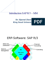 Introduction to SAP R3 (MM)